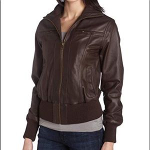EMU Leather Bomber Jacket Naturally Australian